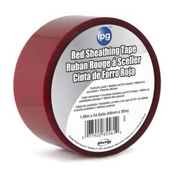 IPG 1.88 in. W x 54.6 yd. L Red Acrylic Adhesive Sheathing Tape
