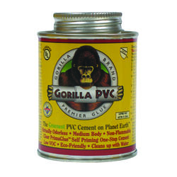 Gorilla PVC  PrimaGlue  Clear  Primer and Cement  For PVC 8 oz.