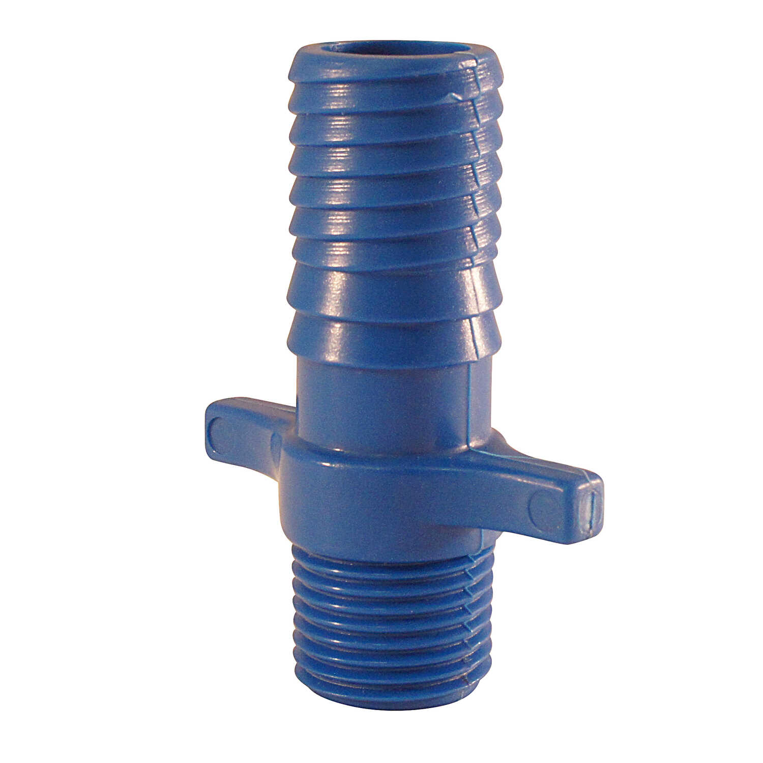 Blue Twisters  3/4 in. MPT   x 1 in. Dia. Insert  Polypropylene  Male Adapter