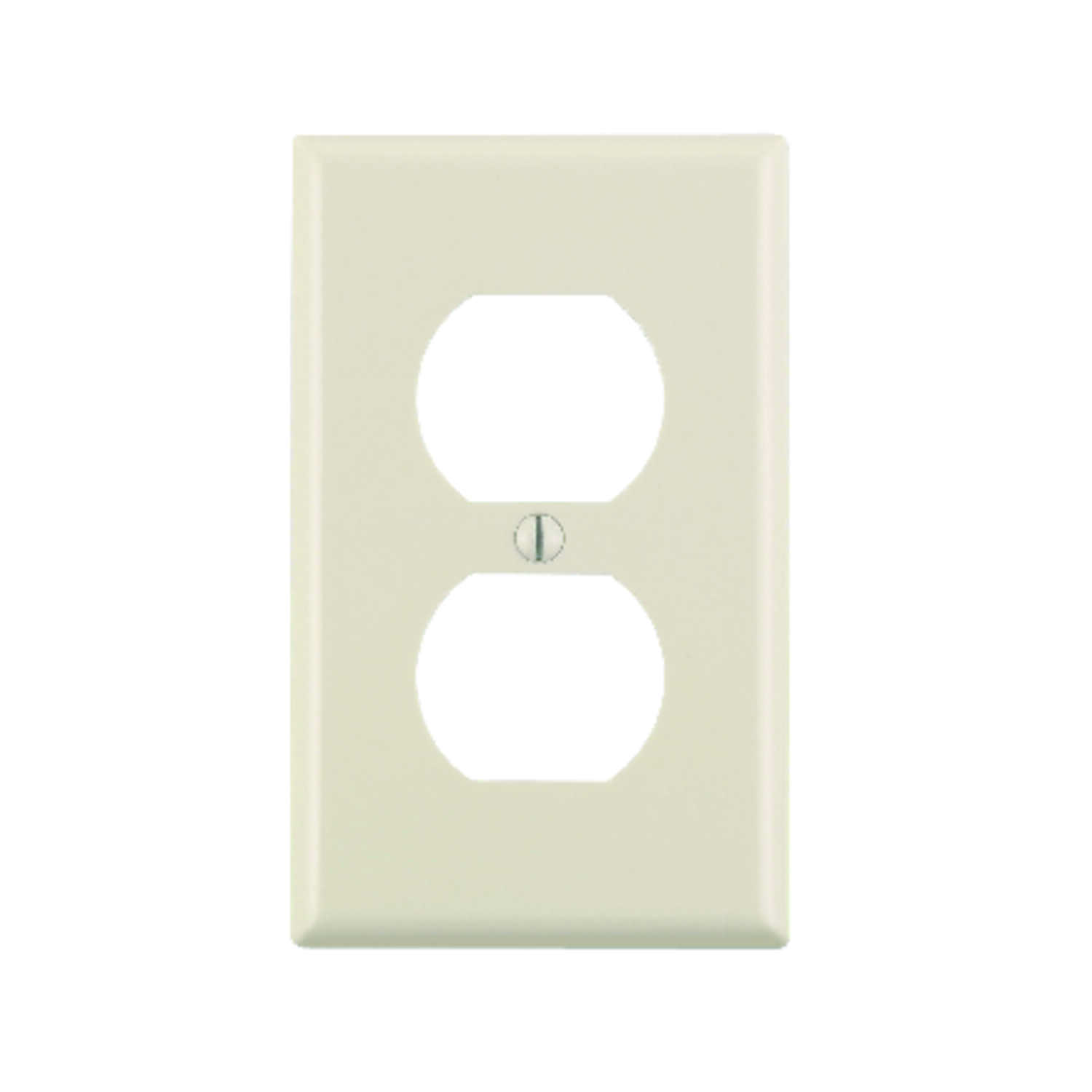 Leviton  Almond  1 gang Plastic  Duplex Outlet  Wall Plate  10 pk