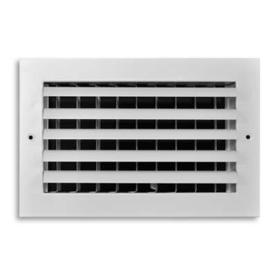 Tru Aire  6 in. H x 10 in. W 1-Way  White  Aluminum  Wall/Ceiling Register
