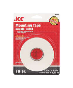 Ace  3/4 in. W x 15 ft. L Mounting Tape  White