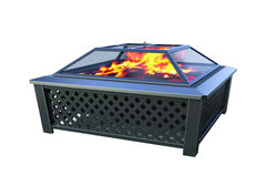 Living Accents  Steel  Wood  Fire Pit  20 in. H x 35 in. W x 35 in. D Steel