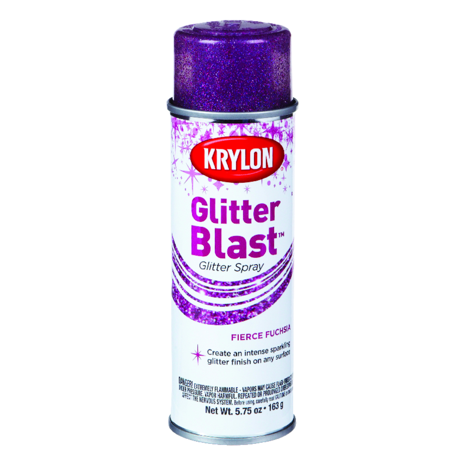 Krylon  Fierce Fuchsia  Glitter Blast Spray Paint  5.75 oz.