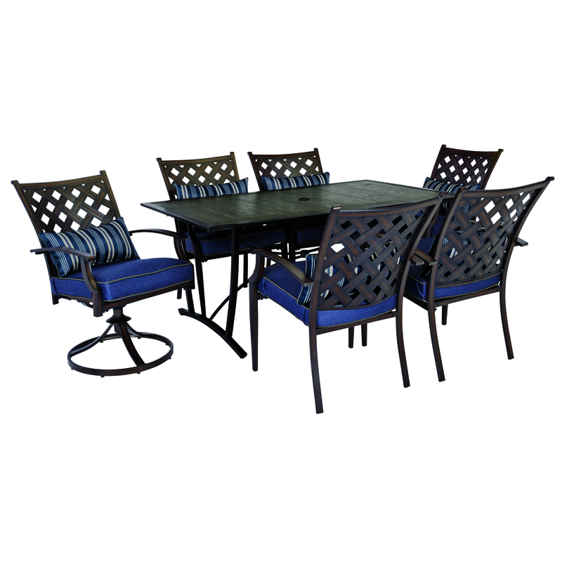 Living Accents  7 pc. Regency  Dining Set  Blue