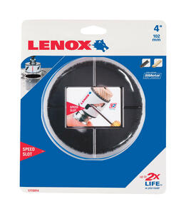 Lenox  Speed Slot  4 in. Dia. x 1.5 in. L Bi-Metal  Hole Saw  1/2 in. 1 pc.