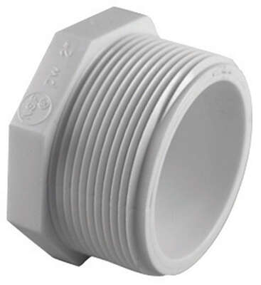 Charlotte Pipe  Schedule 40  3 in. MPT   PVC  Plug