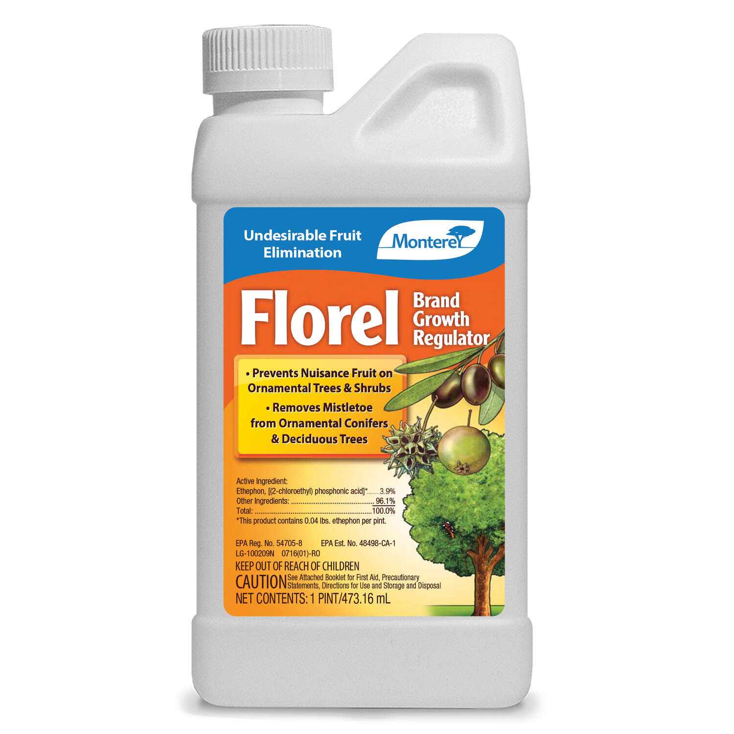 Monterey  Florel  Growth Regulator  Concentrate  1 pt.