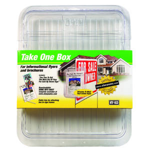 Hy-Ko  Take One Box  Brochure Holder  Plastic  3.5 in. H x 10 in. W