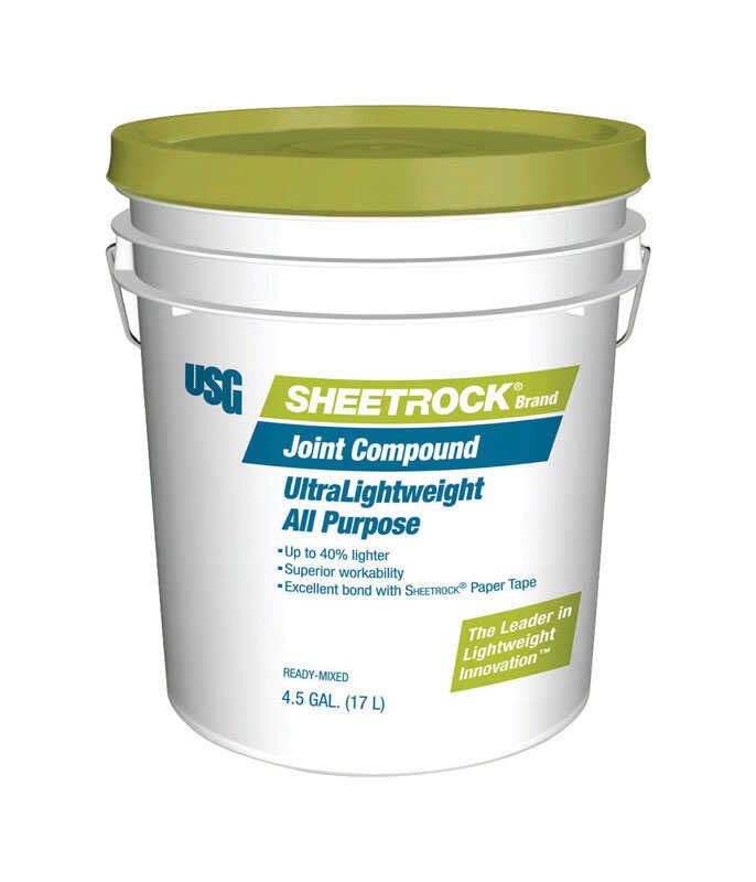 Sheetrock  White to Off-White  Ultra Lightweight  All Purpose Joint Compound  4.5 gal.