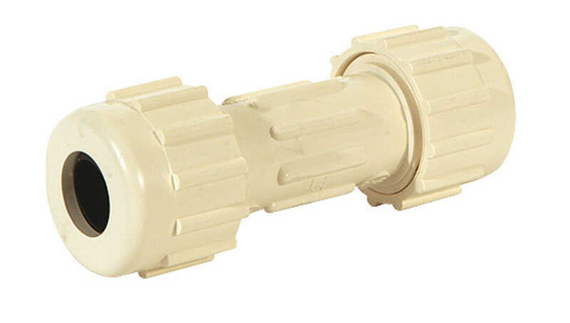 Homewerks  3/4 in. Slip   x 3/4 in. Dia. Slip  CPVC  For Pressure Applications Compression Coupling