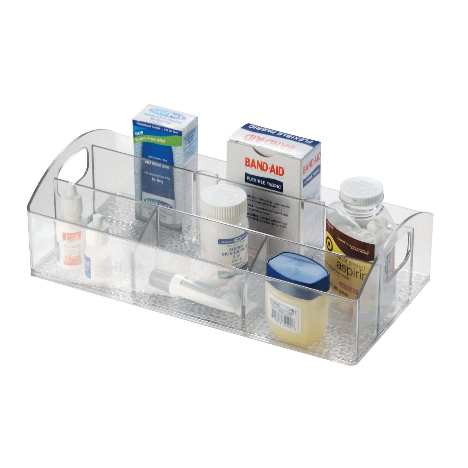 InterDesign  3-1/2 in. H x 6 in. W x 12 in. L Clear  Shelf Tote