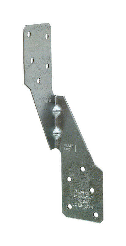 Simpson Strong-Tie  6 in. H x 1.69 in. W x 1-3/8 in. W Galvanized Steel  Hurricane Tie  18 Ga.