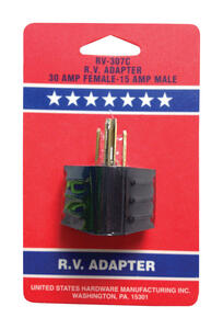 US Hardware  RV Electrical Adapter  1 pk