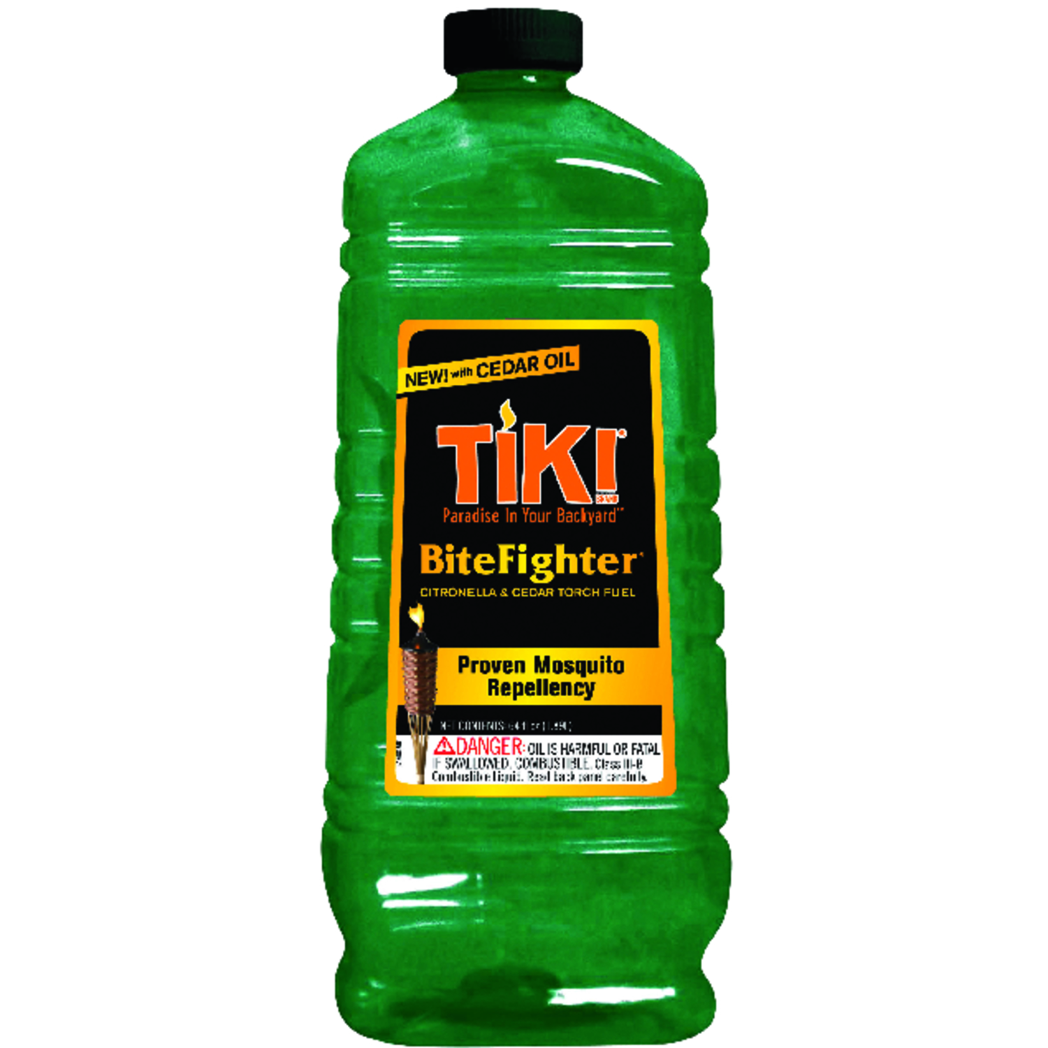 Tiki  Bug Fighter  Citronella & Cedar  Torch Fuel  Green  64 oz.