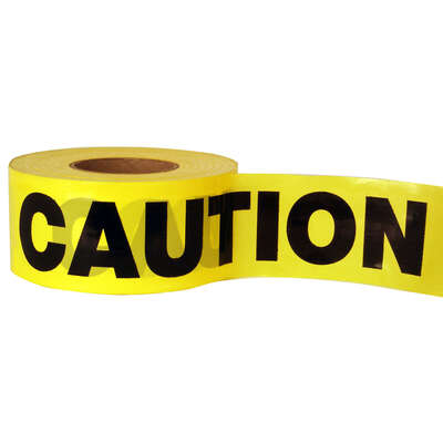 C.H. Hanson 1000 ft. L x 3 in. W Plastic Caution Barricade Tape Yellow
