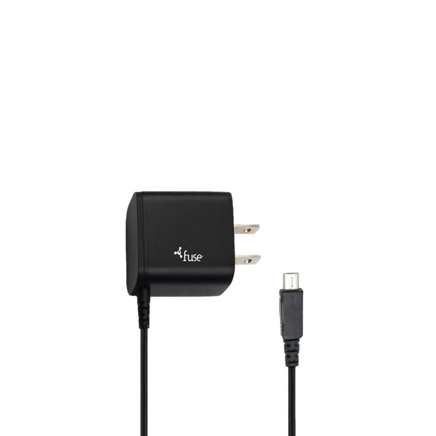 Fuse  3 ft. L USB Wall Charger  1 pk