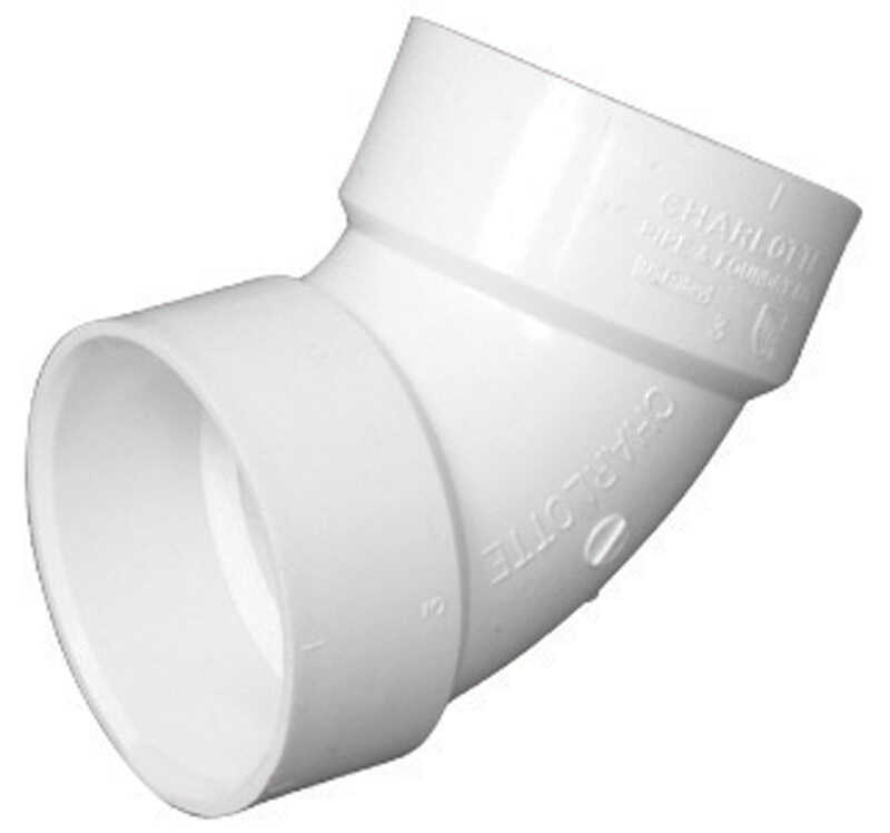 Charlotte Pipe  Schedule 40  4 in. Hub   x 4 in. Dia. Hub  PVC  Elbow
