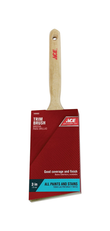 Ace  3 in. W Medium Stiff  Polyester  Angle  Trim Paint Brush