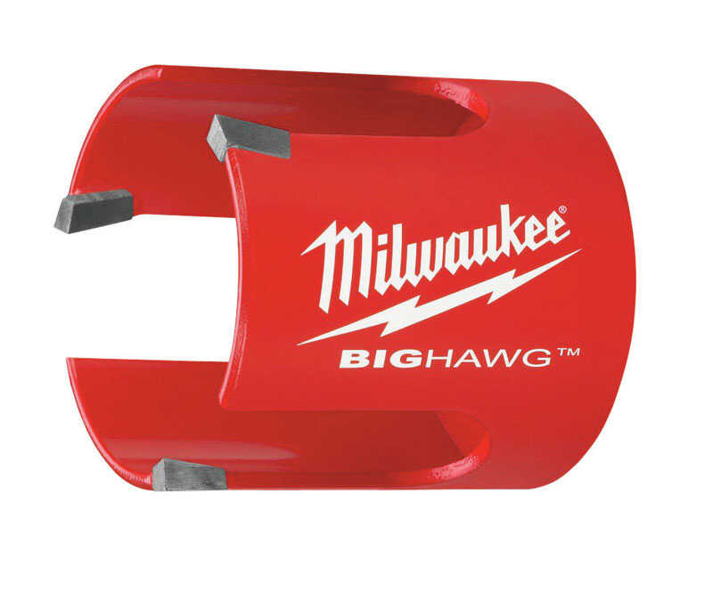 Milwaukee  BIG HAWG  3 in. Dia. x 2-1/4 in. L Bi-Metal  Carbide Tipped  Hole Saw  1/4 in. 1 pc.