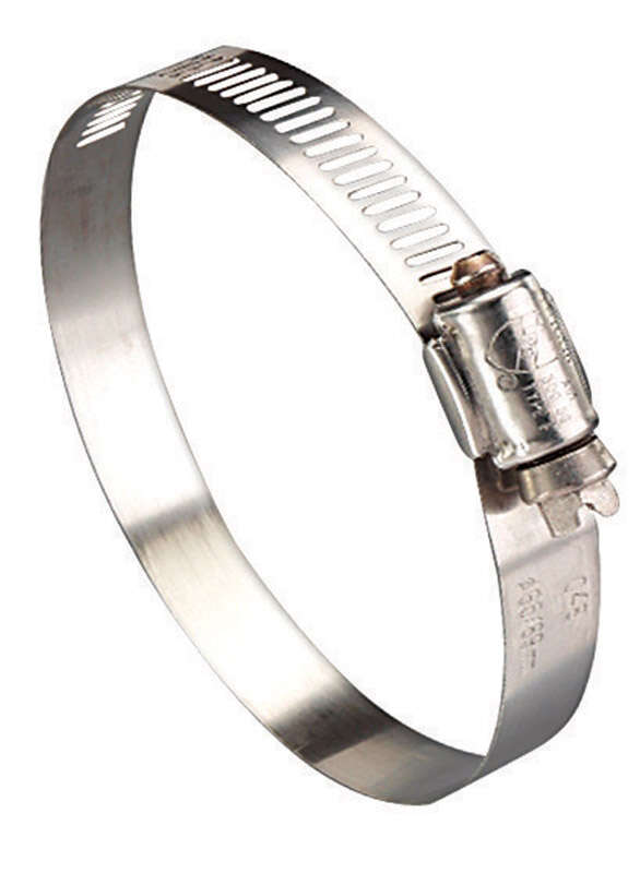 Ideal  Hy Gear  3 in. to 5 in. SAE 72  Silver  Hose Clamp  Stainless Steel  Band