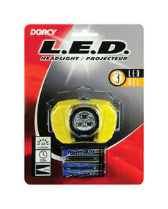 Dorcy  28 lumens Black/Yellow  LED  Headlight  AAA Battery