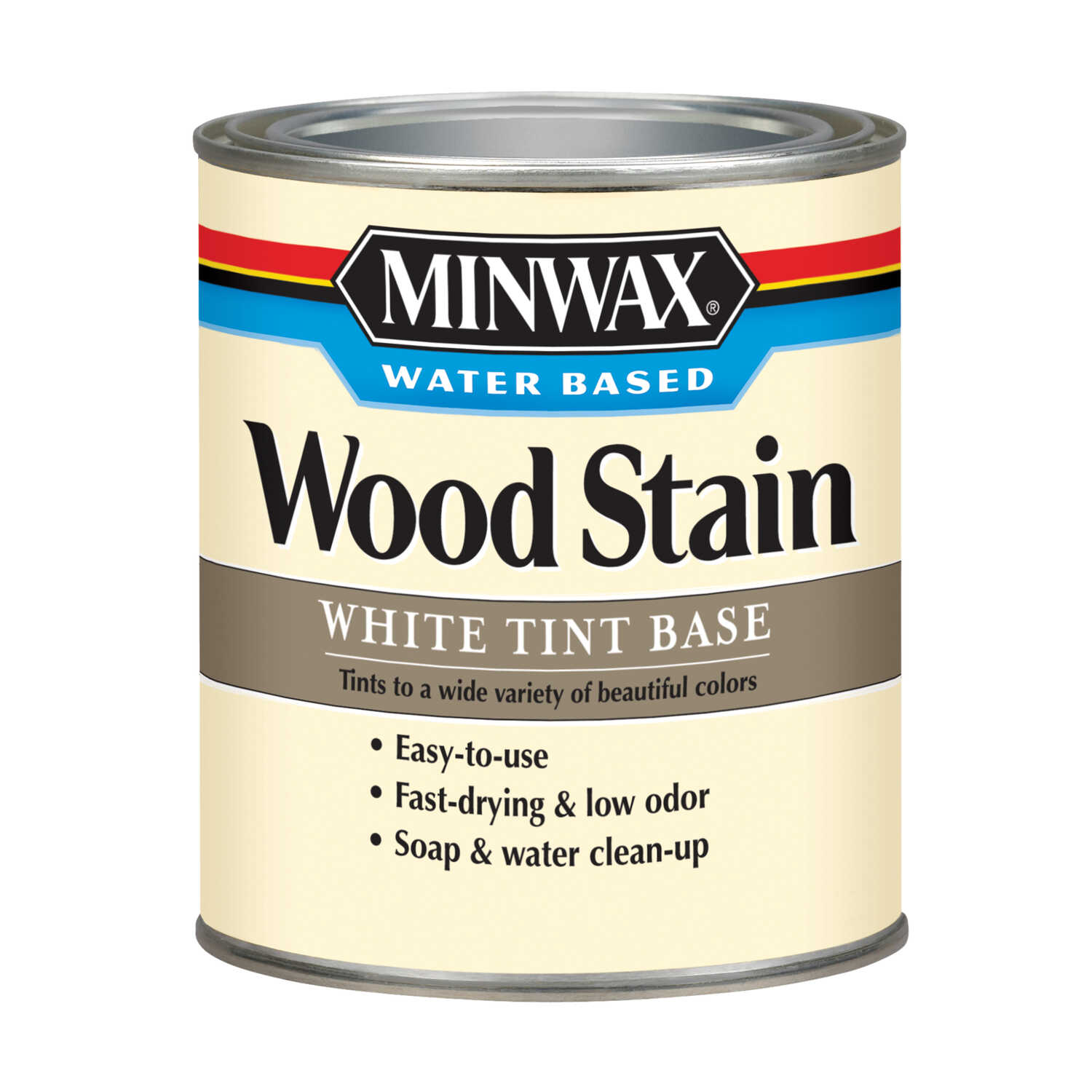 Minwax  Transparent  White Tint Base  Water-Based  Acrylic  Wood Stain  1 qt.