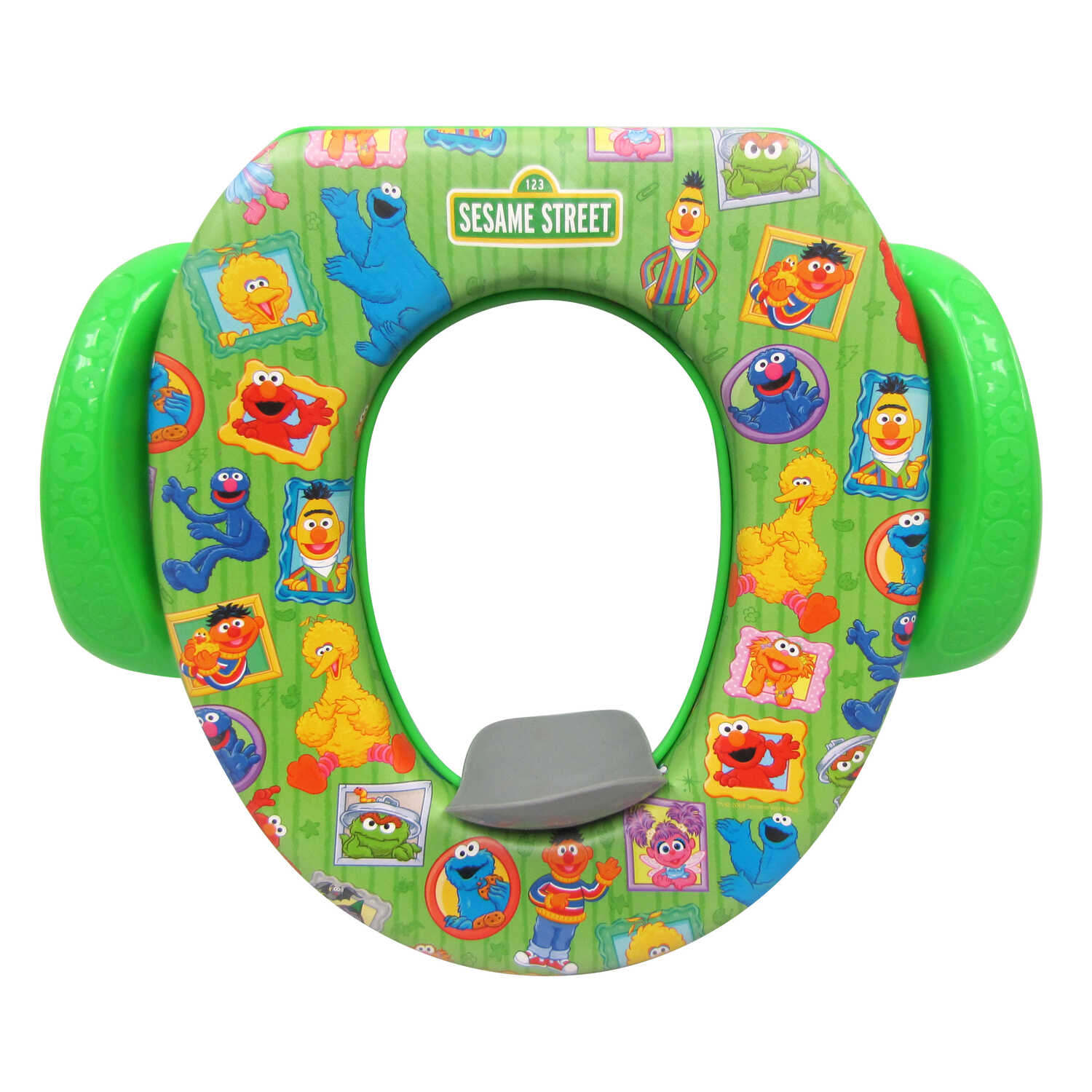 Ginsey  Sesame Street Framed Friends  Round  Soft  Child's Toilet Seat
