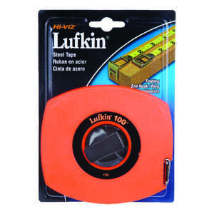 Lufkin  100 ft. L Tape Rule  1 pk Orange