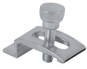 Prime-Line  Mill  Aluminum  Storm Door Panel Clip  For 1/2 8  Mill