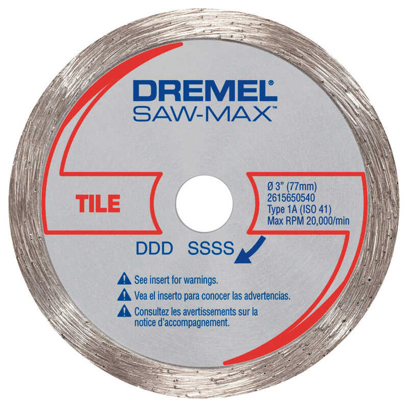 Dremel  3 in   x 3 in. L Steel  Diamond Tile Wheel  1 pk