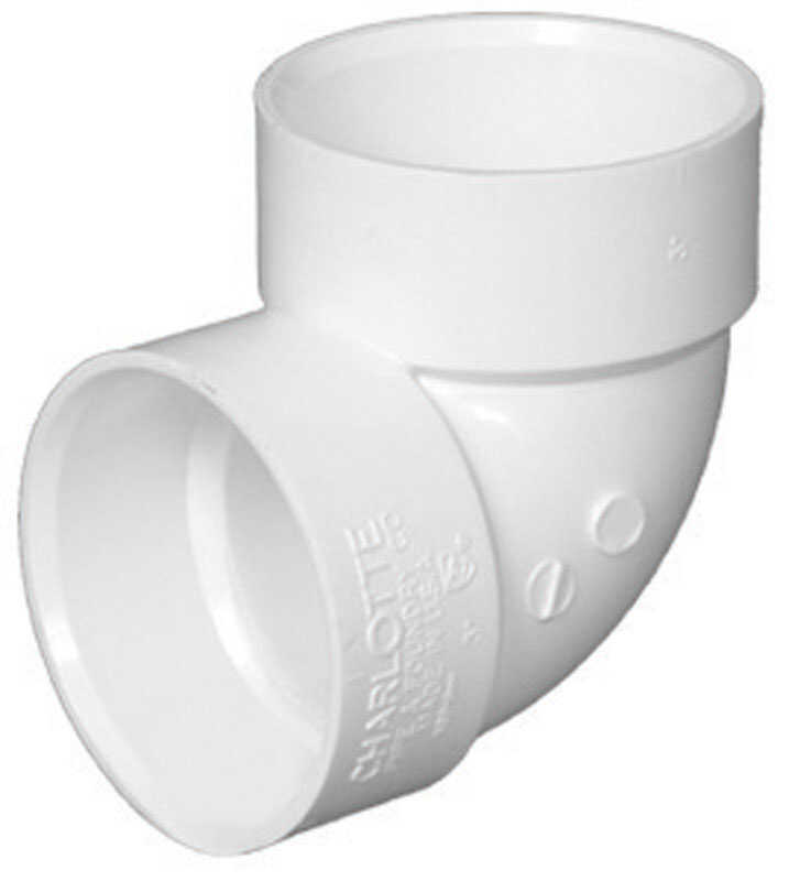 Charlotte Pipe  Schedule 40  2 in. Hub   x 2 in. Dia. Hub  PVC  Elbow
