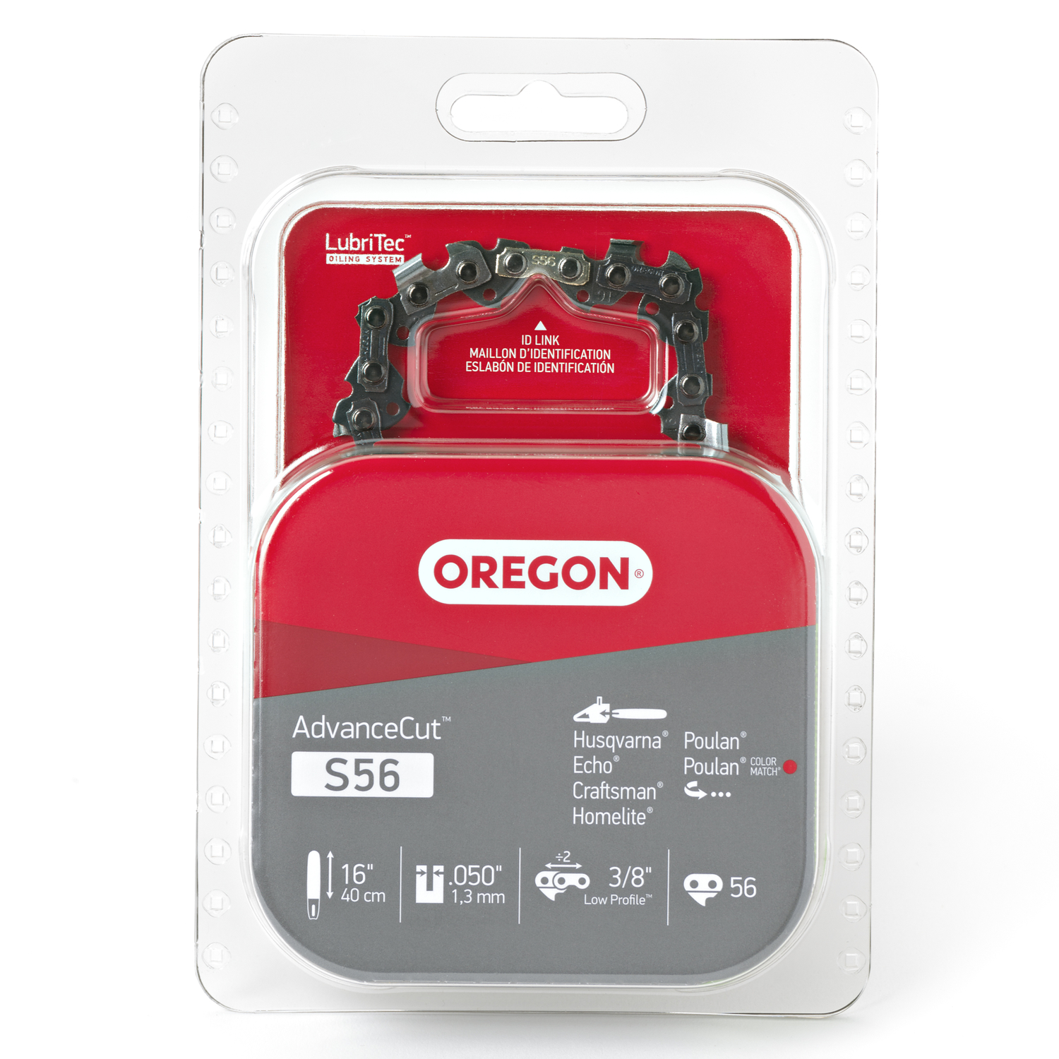 Oregon  16 in. L 56 links Chainsaw Chain