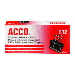 Acco  Medium  Binder Clips  12 each
