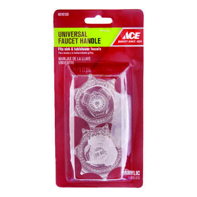 Ace For Universal Clear Sink and Tub and Shower Faucet Handle