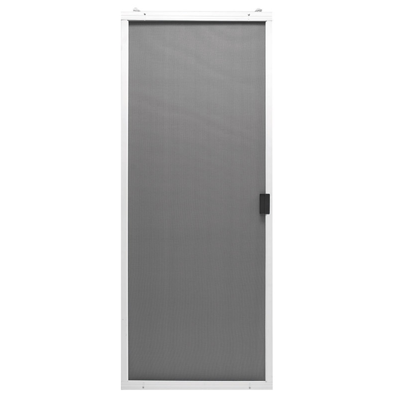 Superior  36 in. W x 80-3/4 in. H Breezeway  White  Steel  Adjustable Sliding Screen Door