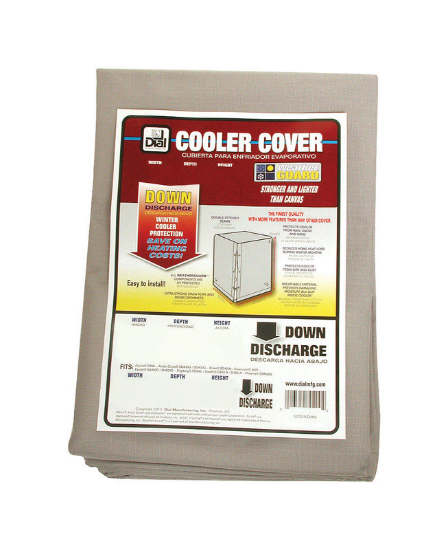 Dial  34 in. H x 28 in. W Polyester  Gray  Evaporative Cooler Cover