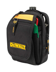 DeWalt  10 pocket Polyester Fabric  Accessory Pouch  4.3 in. L x 8.5 in. H Black