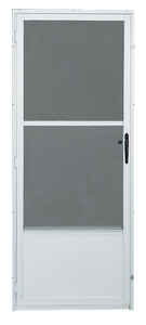 Croft  80 in. H x 36 in. W Aluminum  White  Mid-View  Reversible  Storm Door