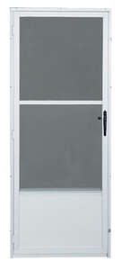 Croft  80  H x 36  W Aluminum  Mid-View  Storm Door  White