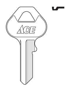 Ace  Padlock  Key Blank  88/30KB CP-1  Single sided