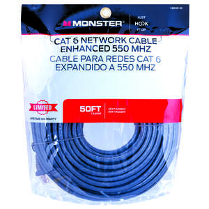 Monster Cable  Hook It Up  Category 6  Networking Cable  50 ft. L