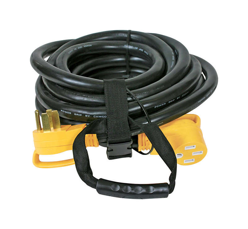 Camco  Power Grip  30 ft. L Black  Outdoor  6/3 + 8/1 STW  Extension Cord