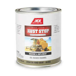 Ace  Rust Stop  Interior/Exterior  Indoor and Outdoor  Gloss  Ford Gray  Rust Prevention Paint  1 qt