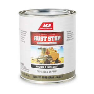 Ace  Rust Stop  Indoor and Outdoor  Gloss  Ford Gray  Interior/Exterior  1 qt. Rust Prevention Paint