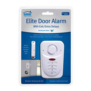 Sabre  Elite  White  Plastic  Door Alarm