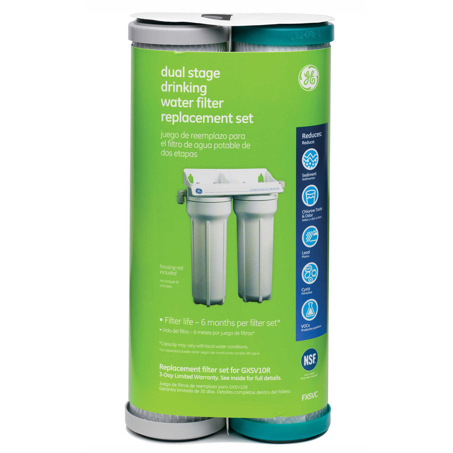 GE Appliances  Dual Stage Drinking Water  Replacement Water Filter  600 gal.