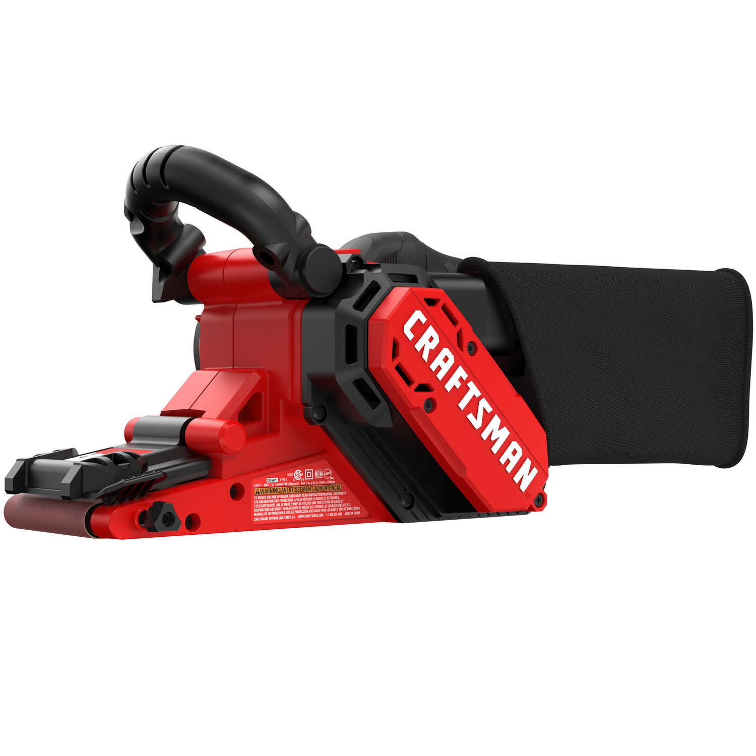 Craftsman  21 in. L x 3 in. W Corded  Belt Sander  7 amps 800 FPM