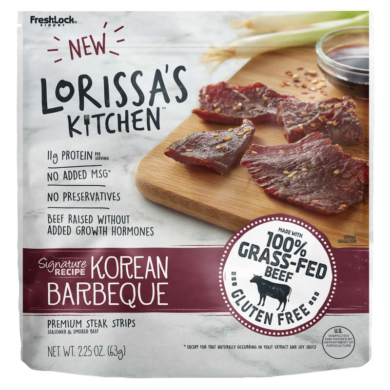 Lorissa's Kitchen  Korean BBQ  Beef Jerky  2.25 oz. Pegged