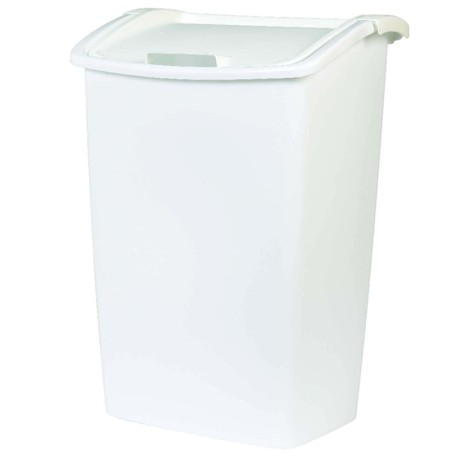 Rubbermaid  11.25 gal. White  Swing Out  Wastebasket